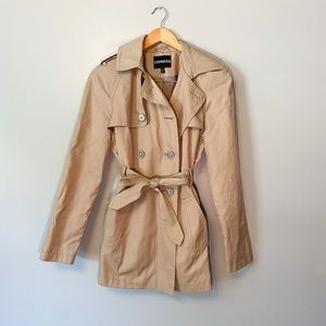 Express beige trench coat small